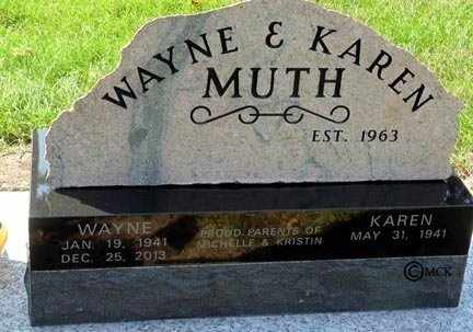 MUTH, KAREN - Minnehaha County, South Dakota | KAREN MUTH - South Dakota Gravestone Photos