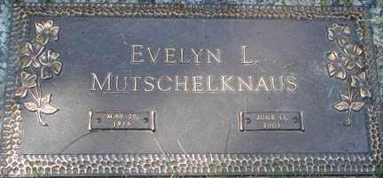 MUTSCHELKNAUS, EVELYN L. - Minnehaha County, South Dakota | EVELYN L. MUTSCHELKNAUS - South Dakota Gravestone Photos