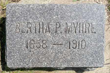 MYHRE, BERTHA P. - Minnehaha County, South Dakota | BERTHA P. MYHRE - South Dakota Gravestone Photos