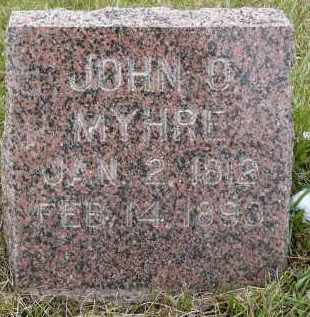 MYHRE, JOHN O. - Minnehaha County, South Dakota | JOHN O. MYHRE - South Dakota Gravestone Photos