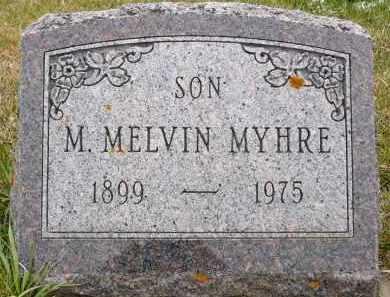 MYHRE, M. MELVIN - Minnehaha County, South Dakota   M. MELVIN MYHRE - South Dakota Gravestone Photos