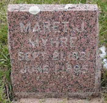 MYHRE, MARET J. - Minnehaha County, South Dakota | MARET J. MYHRE - South Dakota Gravestone Photos