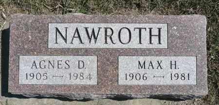 NAWROTH, MAX H. - Minnehaha County, South Dakota | MAX H. NAWROTH - South Dakota Gravestone Photos