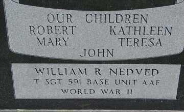 NEDVED, WILLIAM R. - Minnehaha County, South Dakota | WILLIAM R. NEDVED - South Dakota Gravestone Photos