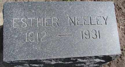 NEELEY, ESTHER - Minnehaha County, South Dakota | ESTHER NEELEY - South Dakota Gravestone Photos
