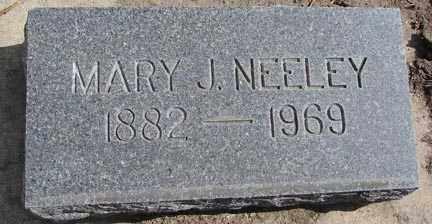 NEELEY, MARY J. - Minnehaha County, South Dakota | MARY J. NEELEY - South Dakota Gravestone Photos