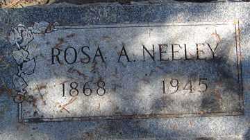 NEELEY, ROSA A. - Minnehaha County, South Dakota | ROSA A. NEELEY - South Dakota Gravestone Photos
