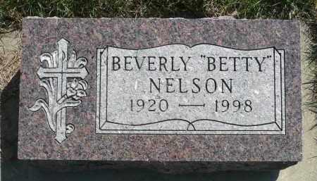 "NELSON, BEVERLY ""BETTY"" - Minnehaha County, South Dakota | BEVERLY ""BETTY"" NELSON - South Dakota Gravestone Photos"