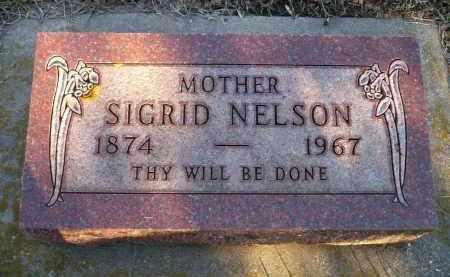 NELSON, SIGRID - Minnehaha County, South Dakota   SIGRID NELSON - South Dakota Gravestone Photos