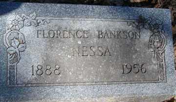 BANKSON NESSA, FLORENCE - Minnehaha County, South Dakota | FLORENCE BANKSON NESSA - South Dakota Gravestone Photos