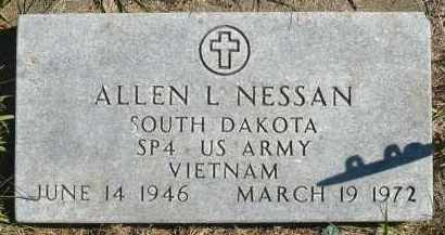 NESSAN, ALLEN L. - Minnehaha County, South Dakota   ALLEN L. NESSAN - South Dakota Gravestone Photos