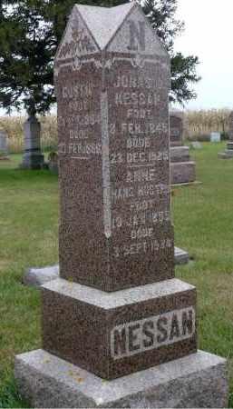 NESSAN, JONAS OLSEN - Minnehaha County, South Dakota | JONAS OLSEN NESSAN - South Dakota Gravestone Photos