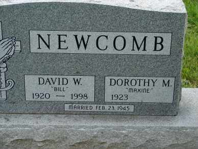 NEWCOMB, DAVID W. - Minnehaha County, South Dakota | DAVID W. NEWCOMB - South Dakota Gravestone Photos