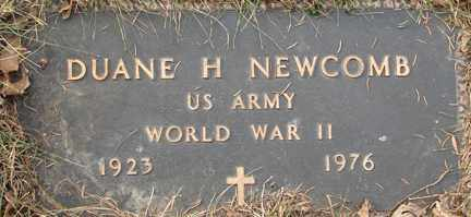 NEWCOMB, DUANE H. (WWII) - Minnehaha County, South Dakota | DUANE H. (WWII) NEWCOMB - South Dakota Gravestone Photos