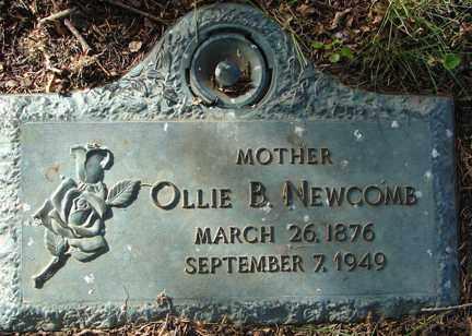 NEWCOMB, OLLIE B. - Minnehaha County, South Dakota | OLLIE B. NEWCOMB - South Dakota Gravestone Photos