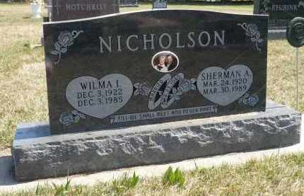 NICHOLSON, SHERMAN A. - Minnehaha County, South Dakota   SHERMAN A. NICHOLSON - South Dakota Gravestone Photos