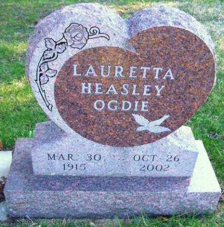 HEASLEY OGDIE, LAURETTA - Minnehaha County, South Dakota | LAURETTA HEASLEY OGDIE - South Dakota Gravestone Photos