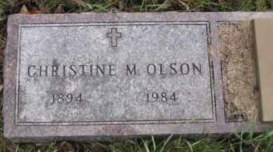 OLSON, CHRISTINE M. - Minnehaha County, South Dakota | CHRISTINE M. OLSON - South Dakota Gravestone Photos