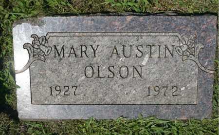 AUSTIN OLSON, MARY - Minnehaha County, South Dakota   MARY AUSTIN OLSON - South Dakota Gravestone Photos