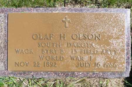 OLSON, OLAF H. - Minnehaha County, South Dakota | OLAF H. OLSON - South Dakota Gravestone Photos