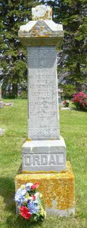 ORDAL, GEORGE J. - Minnehaha County, South Dakota   GEORGE J. ORDAL - South Dakota Gravestone Photos