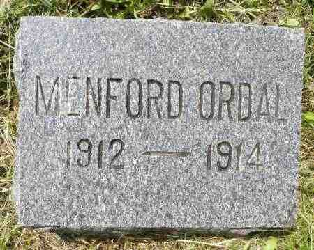 ORDAL, MENFORD - Minnehaha County, South Dakota | MENFORD ORDAL - South Dakota Gravestone Photos
