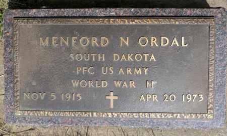 ORDAL, MENFORD N. (WWII) - Minnehaha County, South Dakota | MENFORD N. (WWII) ORDAL - South Dakota Gravestone Photos
