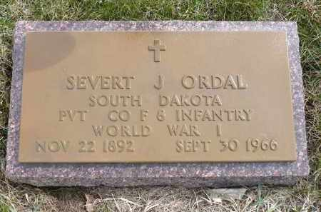 ORDAL, SEVERT J. (WWI) - Minnehaha County, South Dakota | SEVERT J. (WWI) ORDAL - South Dakota Gravestone Photos