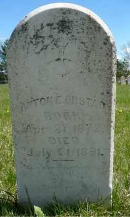 ORSTAD, ANTON E. - Minnehaha County, South Dakota | ANTON E. ORSTAD - South Dakota Gravestone Photos