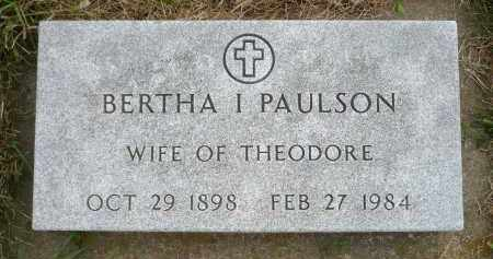 PAULSON, BERTHA I. - Minnehaha County, South Dakota | BERTHA I. PAULSON - South Dakota Gravestone Photos