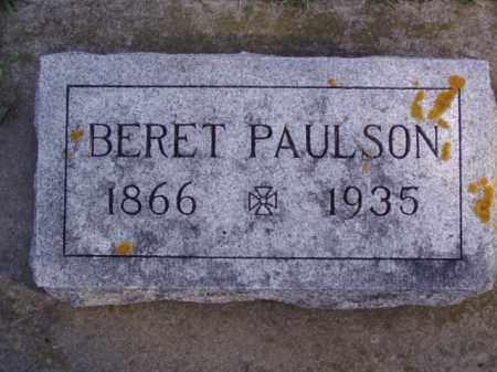 PAULSON, BERET - Minnehaha County, South Dakota | BERET PAULSON - South Dakota Gravestone Photos