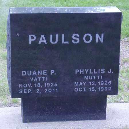 PAULSON, PHYLLIS J. - Minnehaha County, South Dakota | PHYLLIS J. PAULSON - South Dakota Gravestone Photos