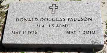 PAULSON, DONALD DOUGLAS - Minnehaha County, South Dakota | DONALD DOUGLAS PAULSON - South Dakota Gravestone Photos