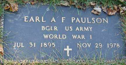 PAULSON, EARL A. - Minnehaha County, South Dakota | EARL A. PAULSON - South Dakota Gravestone Photos