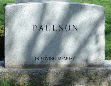 PAULSON, FAMILY MARKER - Minnehaha County, South Dakota | FAMILY MARKER PAULSON - South Dakota Gravestone Photos