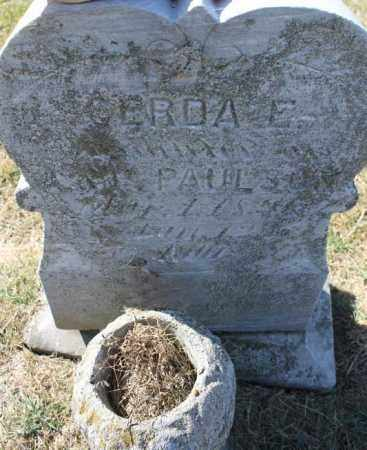 PAULSON, GERDA EMELIA - Minnehaha County, South Dakota   GERDA EMELIA PAULSON - South Dakota Gravestone Photos