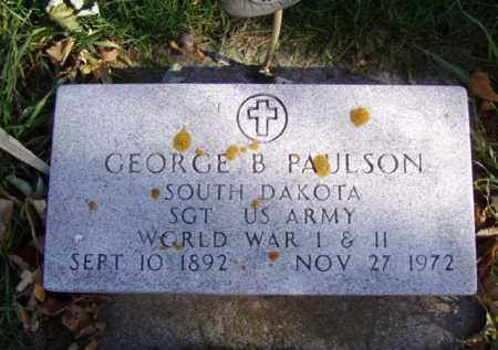 PAULSON, GEORGE B. - Minnehaha County, South Dakota | GEORGE B. PAULSON - South Dakota Gravestone Photos