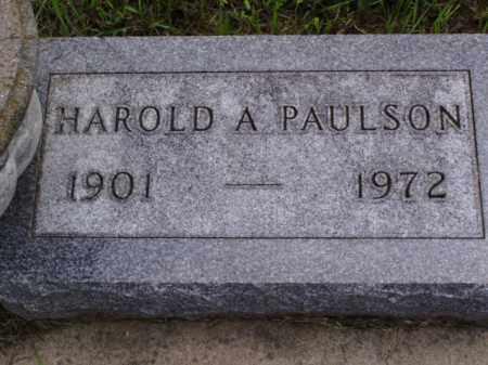 PAULSON, HAROLD A. - Minnehaha County, South Dakota | HAROLD A. PAULSON - South Dakota Gravestone Photos