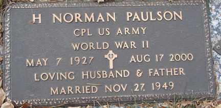 PAULSON, H. NORMAN (WWII) - Minnehaha County, South Dakota | H. NORMAN (WWII) PAULSON - South Dakota Gravestone Photos