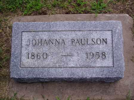 PAULSON, JOHANNA - Minnehaha County, South Dakota | JOHANNA PAULSON - South Dakota Gravestone Photos