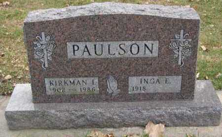 PAULSON, KIRKMAN I. - Minnehaha County, South Dakota | KIRKMAN I. PAULSON - South Dakota Gravestone Photos