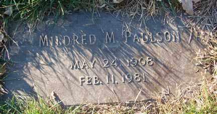 PAULSON, MILDRED M. - Minnehaha County, South Dakota | MILDRED M. PAULSON - South Dakota Gravestone Photos
