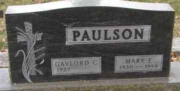PAULSON, MARY E. - Minnehaha County, South Dakota | MARY E. PAULSON - South Dakota Gravestone Photos