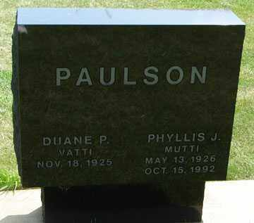 PAULSON, DUANE P. - Minnehaha County, South Dakota | DUANE P. PAULSON - South Dakota Gravestone Photos