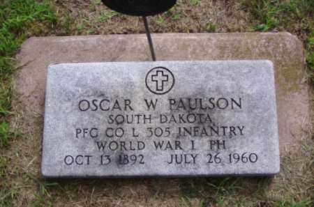 PAULSON, OSCAR W. - Minnehaha County, South Dakota | OSCAR W. PAULSON - South Dakota Gravestone Photos