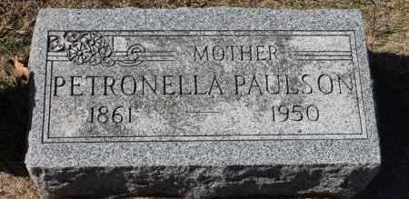 PAULSON, PETRONELLA - Minnehaha County, South Dakota   PETRONELLA PAULSON - South Dakota Gravestone Photos