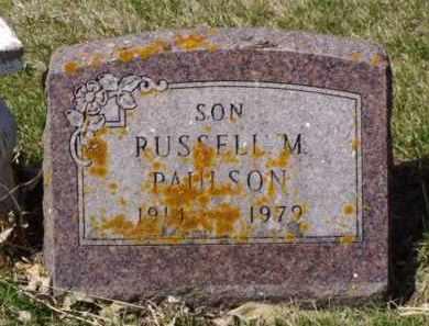 PAULSON, RUSSELL M. - Minnehaha County, South Dakota   RUSSELL M. PAULSON - South Dakota Gravestone Photos