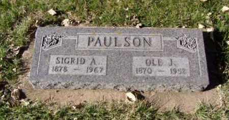 PAULSON, SIGRID A. - Minnehaha County, South Dakota | SIGRID A. PAULSON - South Dakota Gravestone Photos