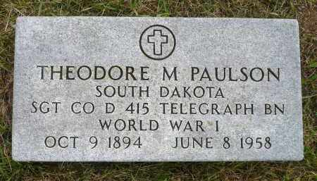 PAULSON, THEODORE M. - Minnehaha County, South Dakota | THEODORE M. PAULSON - South Dakota Gravestone Photos