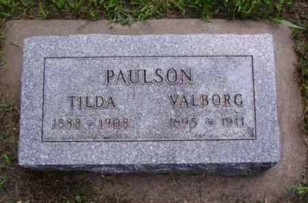 PAULSON, VALBORG - Minnehaha County, South Dakota | VALBORG PAULSON - South Dakota Gravestone Photos